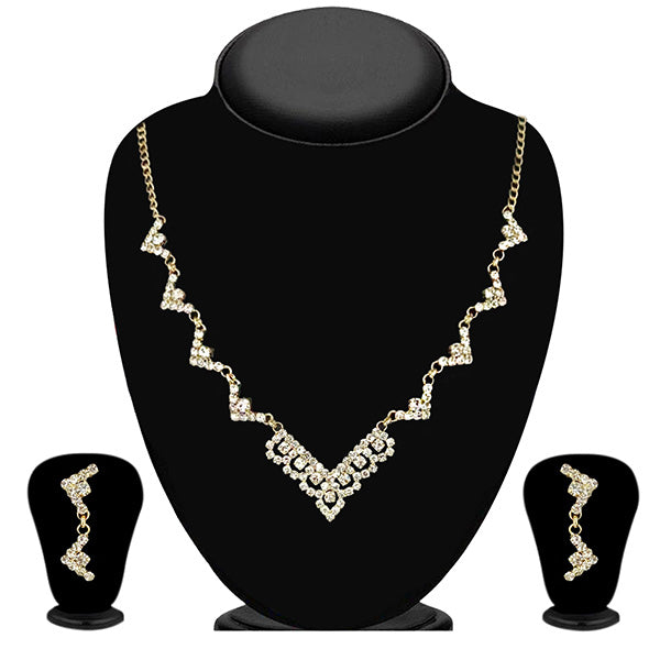 Eugenia Zinc Alloy Gold Plated Austrian Stone Necklace Set - ES