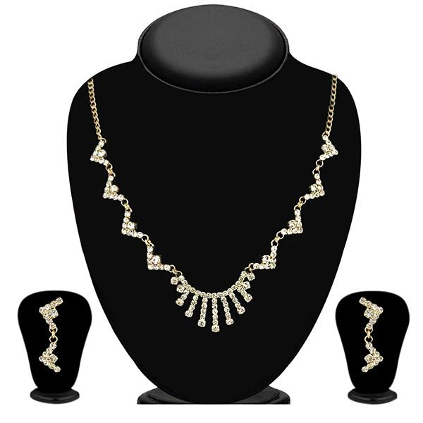 Eugenia Gold Plated Austrian Stone Necklace Set - NB