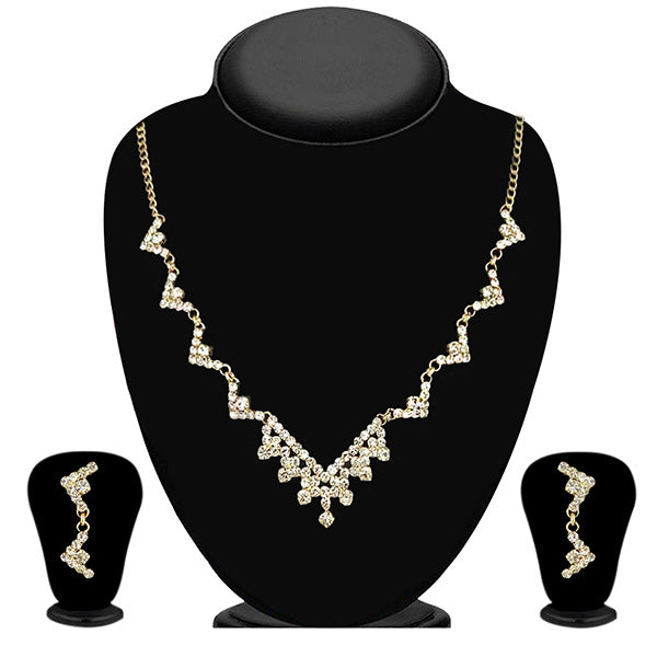 Eugenia Gold Plated Austrian Stone Necklace Set - ES