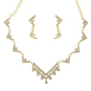Eugenia Gold Plated Austrian Stone Necklace Set