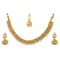 Utkrishtt Pearl Gold Plated Necklace Set With Maang Tikka