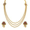 Utkrishtt Red Austrian Stone Gold Plated Necklace Set