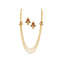 Utkrishtt Red Pota Stone Gold Plated  Necklace Set
