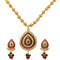 Kriaa Maroon And Green Meenakari Austrian Stone Necklace Set