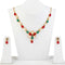 Kriaa Pota Stone Pearl Floral Gold Plated Necklace Set