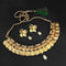 Utkrishtt Austrian Stone Gold Plated Temple Coin Necklace Set