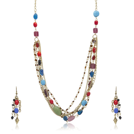 Beadside Beads Gold Plated Necklace Set
