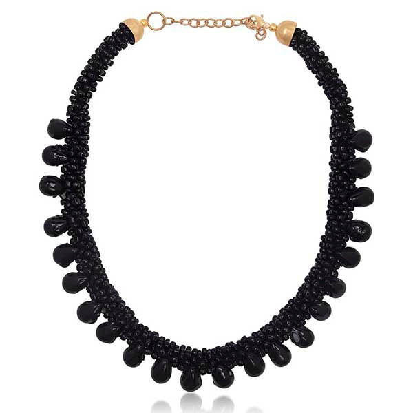 Beadside Black Beads Fusion Necklace