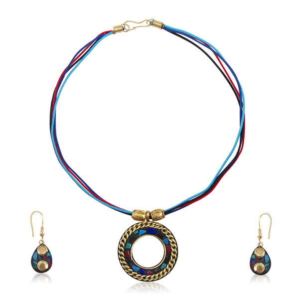Beadside Beads Multicolour Necklace Set