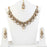 Vivant Charms White Austrian Stone Necklace Set With Maang Tikka