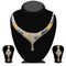 Kriaa 2 Tone Plated Austrian Stone Necklace Set