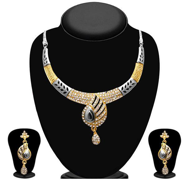 Kriaa 2 Tone Austrian Stone Necklace Set