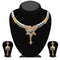 Kriaa Austrian Stone 2 Tone Necklace Set