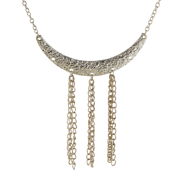 Jeweljunk Rhodium Plated Statement Necklace