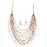 Urthn Multicolour Beads Gold Plated Statement Necklace Set