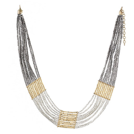 Urthn Two Tone Plated Statement Necklace Set