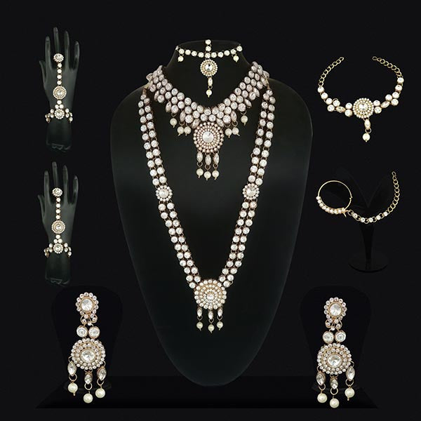 Vivant Charms Crystal Stone Bridal Jewellery Set