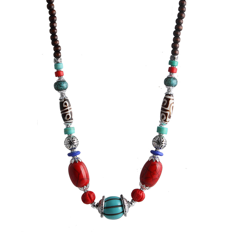 Beadside Multicolor Beads Fusion Necklaces
