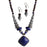 Beadside Blue Beads Oxidised Necklace Set