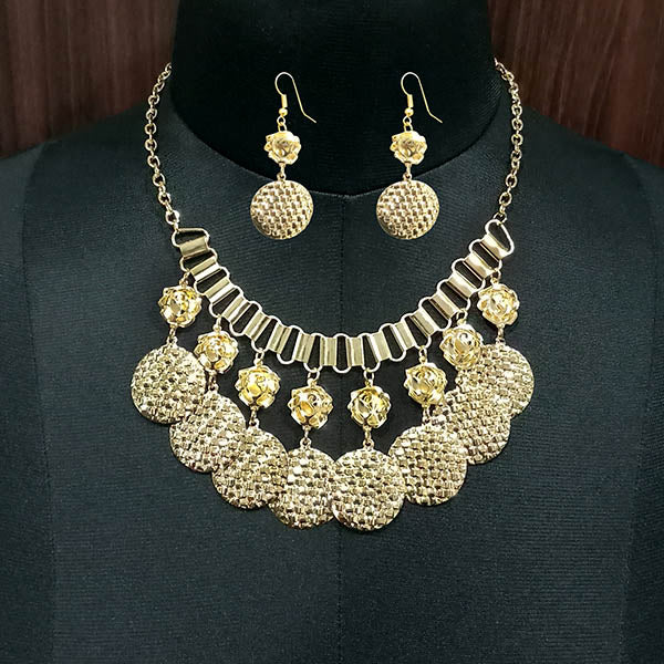 Jeweljunk Gold Plated Statement Necklace Set