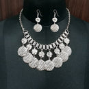 Jeweljunk Rhodium Plated Boho Necklace Set