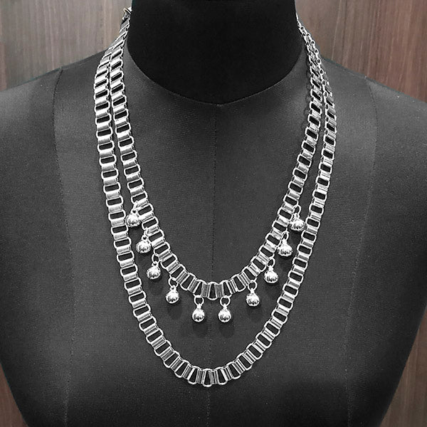 Urthn Silver Plated Statement Necklace