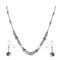 Urthn Rhodium Plated Beads Necklace Set