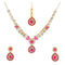 Kriaa Pink Kundan Necklace Set With Maang Tikka