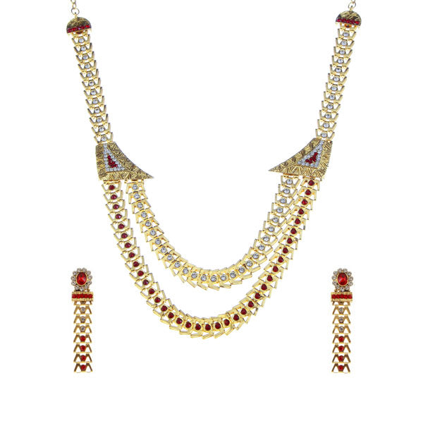 Soha Fashion Stone Gold Plated Traditional Necklace Set