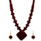 Beadside Brown Beads Antique Gold Necklace set