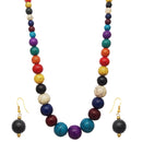 Beadside Multicolour Beads Antique Gold Plated Necklace Set