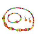 Cuteens Multicolour Beads Necklace Set With Bracelet