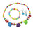 Cuteens Multicolour Floral Beads Necklace Set With Bracelet
