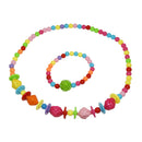 Cuteens Multicolour Beads Necklace With Bracelet