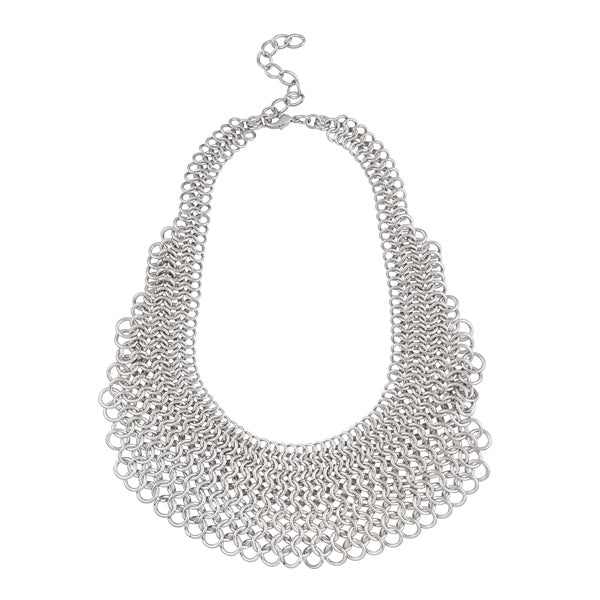 Urthn Rhodium Plated Statement Necklace