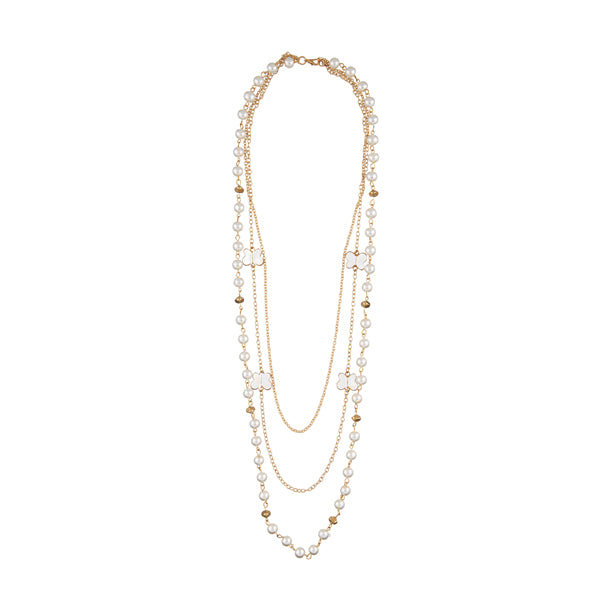 Urthn Gold Plated Pearl Fusion Necklace