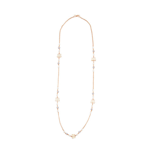 Urthn White Beads Gold Plated Fusion Necklace