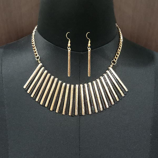 Urthn Gold Plated Bobby Pin Costume Necklace Set