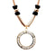 Urthn Rose Gold Plated Glass Stone Statement Necklace