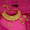Kriaa Gold Plated Choker Necklace Set With Maang Tikka