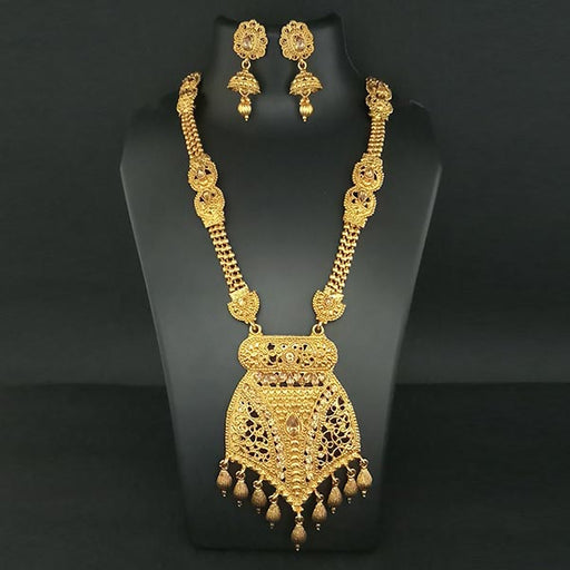 Utkrishtt Gold Plated  Haram Necklace Set