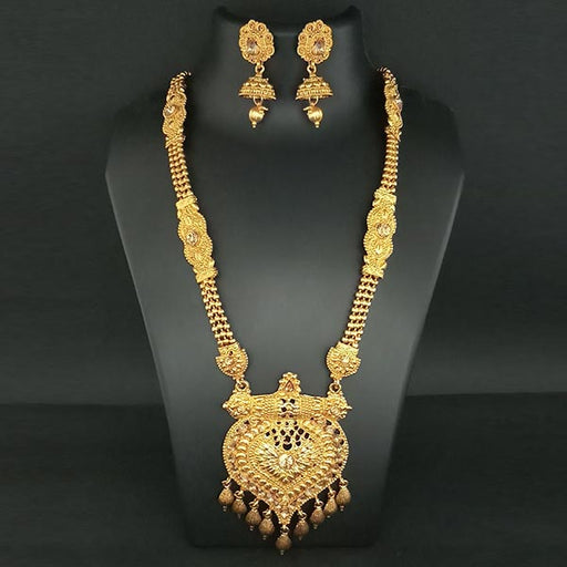 Utkrishtt Brown Austrian Stone Haram Necklace Set