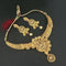 Utkrishtt Gold Plated Brown Austrian Stone Necklace Set