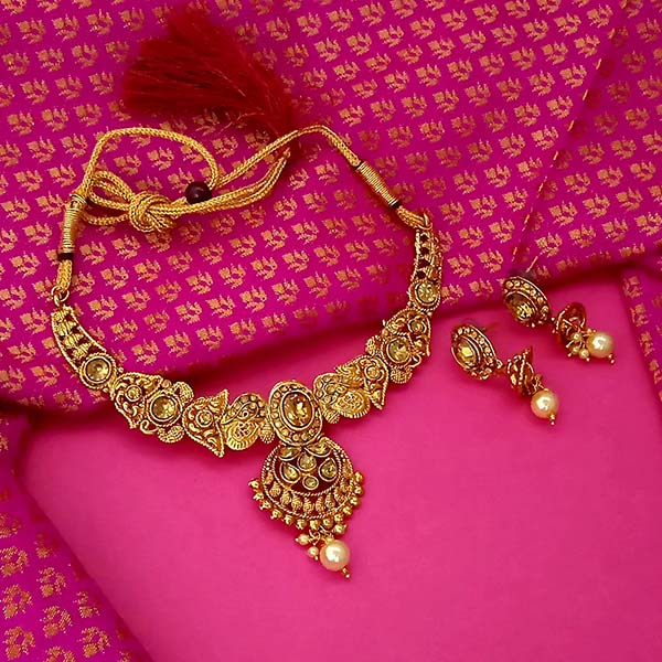 Utkrishtt Brown Austrian Stone Gold Plated Necklace Set