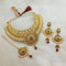 Kriaa Green Austrian Stone Choker Necklace Set With Maang Tikka