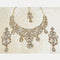 Devnath Art Gold Plated Austrian Stone Necklace Set With Maang Tikka
