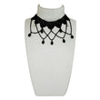 Jeweljunk Black Beads Lace Choker Necklace
