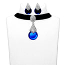 Jeweljunk Austrian Stone Silver Plated Choker Necklace Set