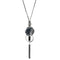 Urthn Black Thread Oxidised Plated Fusion Necklace