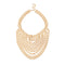 Urthn Multi Beads Gold Plated Statement Necklace